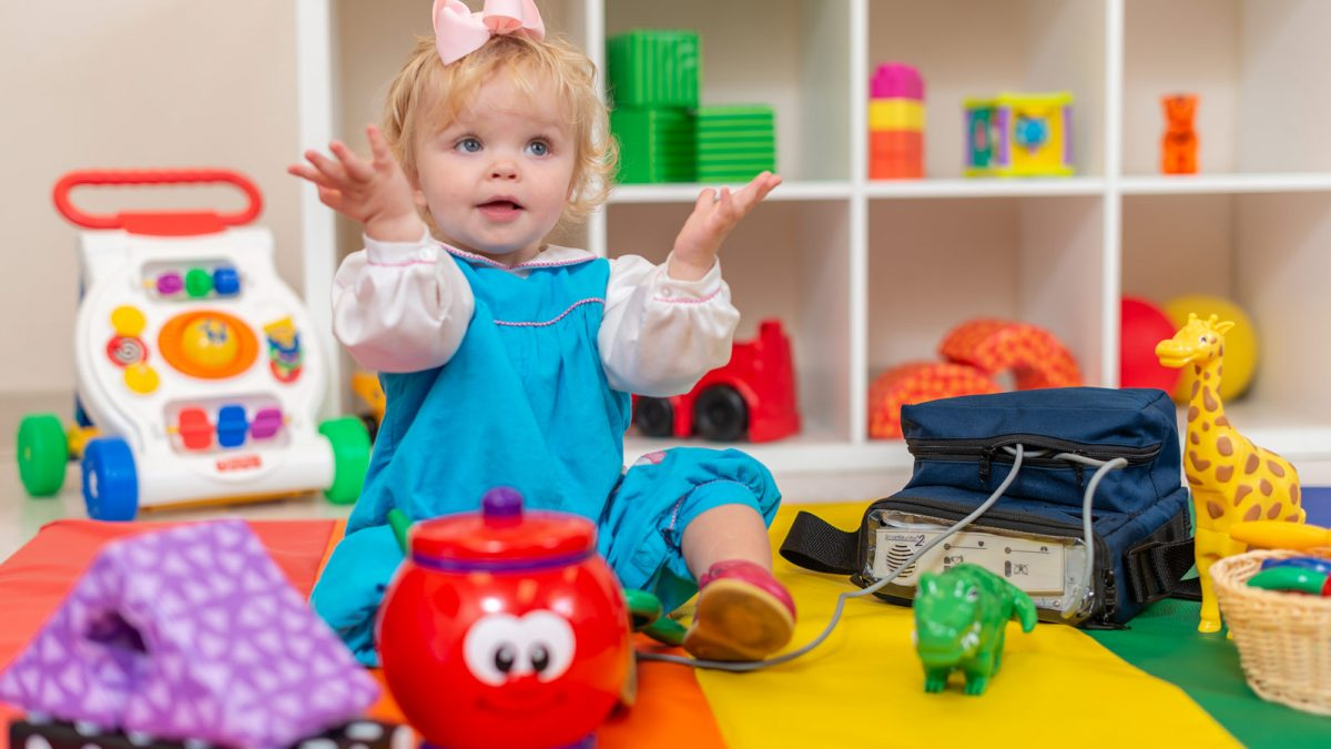 Toddler with Durable Medical Equipment