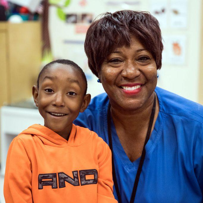 Private Duty Pediatric Nurse with Child