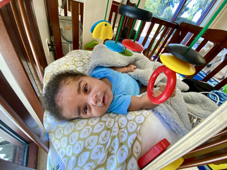 Infant in transitional care at a medical group home